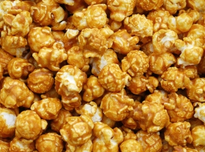 caramel corn close up
